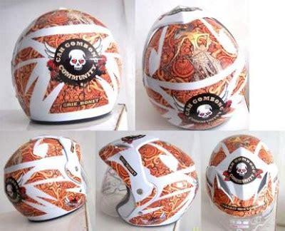 Gombong Batik jon motor helm custom helm custom helm desain