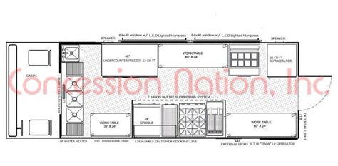 subway restaurant floor plan floorplans food trucks fast food truck mobile kitchens