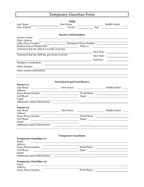 free guardianship template 5 free printable forms for single parents single parent