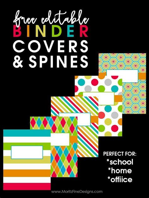 free editable printable binder covers and spines back to school binder covers binder organizing and teacher