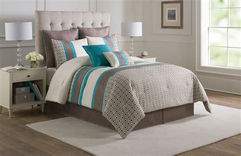 turquoise comforter full 8 piece catalina turquoise taupe ivory comforter set