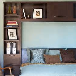 Headboard With Shelves Shelving Headboard 20 Small Bedroom Design Tips Sunset