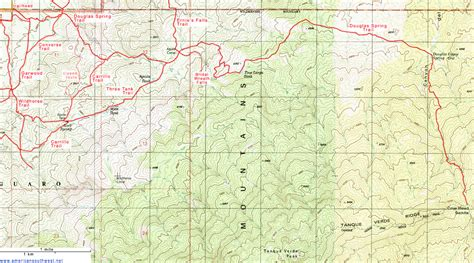 douglas texas map topographic map of the douglas trail saguaro national park arizona