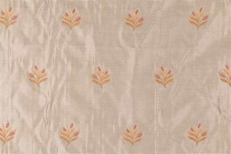 embroidered silk drapery fabric 2 7 yards beacon hill silk fleur embroidered silk