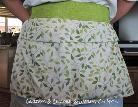 pattern egg gathering apron an easy to make egg gathering apron from a pillowcase