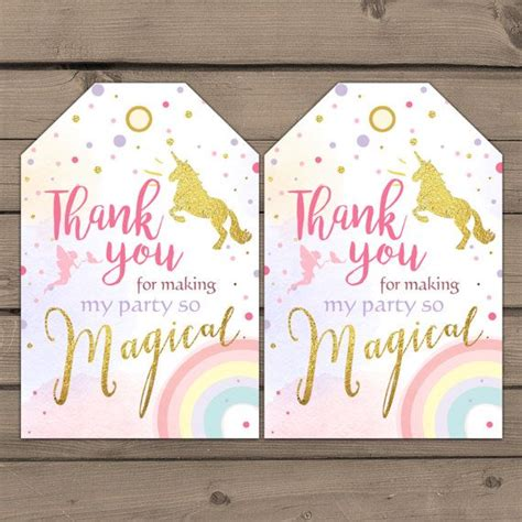 printable gift tags uk unicorn favor tags unicorn birthday thank you tags label