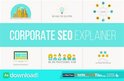 free after effects corporate templates corporate seo explainer videohive free free