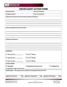employee discipline form template best photos of employee disciplinary print forms