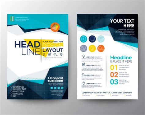 free layout design brochure template design vector free