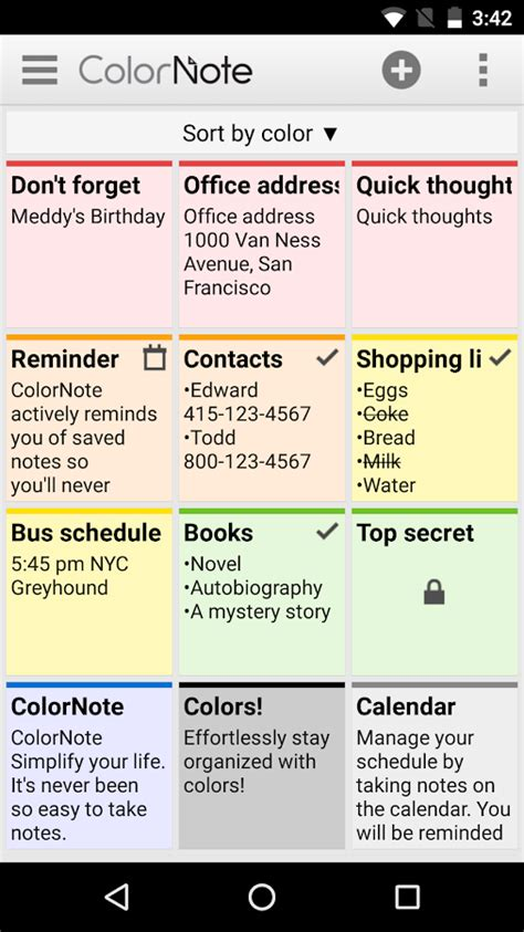 color note for pc colornote notepad notes android apps on play