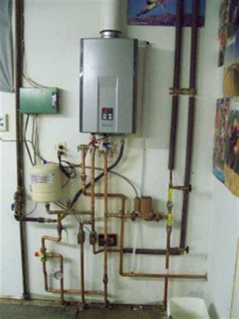 tankless water heater install  white knight plumbing