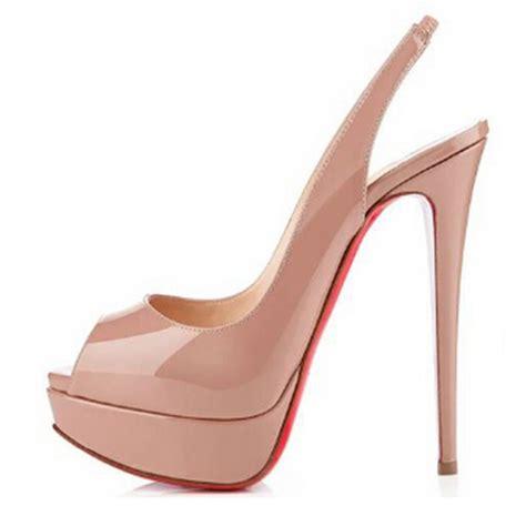 free shipping s peep toe high heel platform genuine