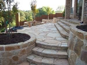 image detail for flagstone patio stairs outdoors