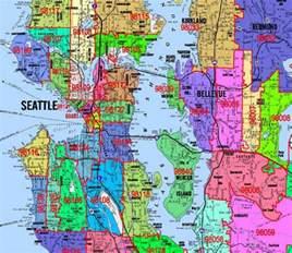 Seattle Washington Zip Codes Map by Kroll Map Company