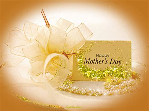 golden glittery happy mothers day card animation pictures   images  facebook