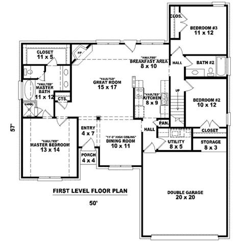 1600 Sq Foot House Plans 1600 Square 3 Bedrooms 2 Batrooms 2 Parking Space On 2 Levels House Plan 9778 All