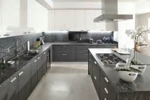 White And Grey Kitchen Designs Gray White Kitchen Interior Design Ideas