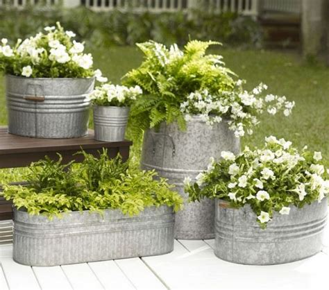 galvanized metal tubs as planters drill several holes in