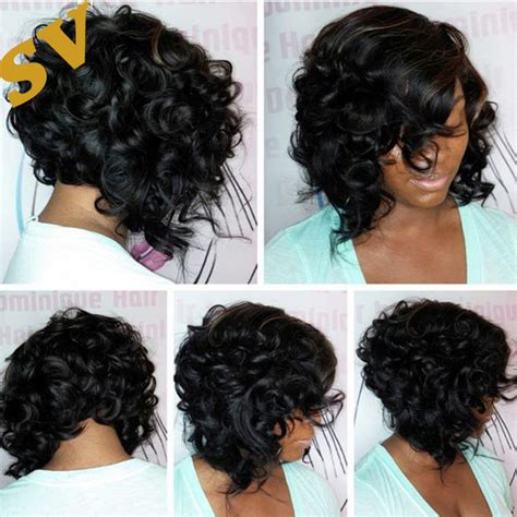 bob wigs human hair black women malaysia hair curly virgin bob wigs glueless short human