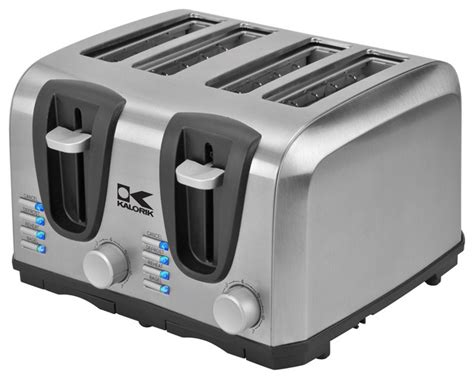 Toaster Technology high tech toaster 4 slice contemporary toasters by kalorik