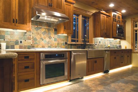 Kitchen Cabinet Lighting Led Two Kitchens Four Lighting Ideas Design Center