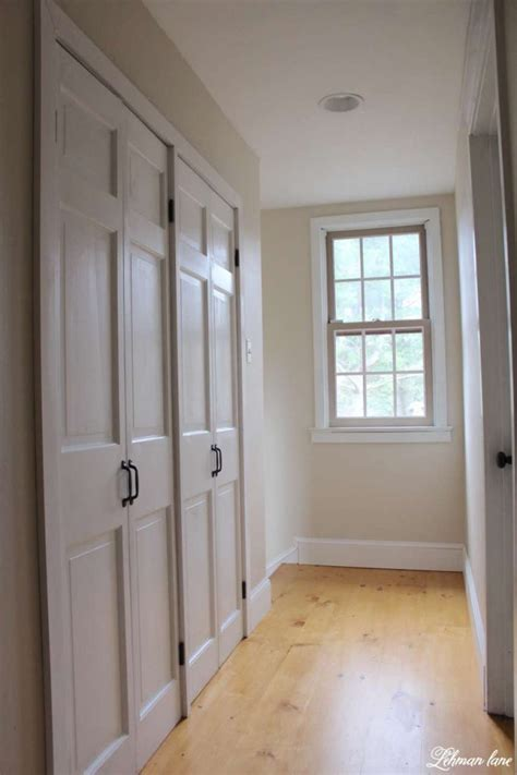 hallway closet doors diy closet door makeover bi fold to hinged lehman
