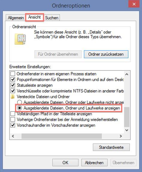 Sichtbar Machen by Versteckte Dateien Und Ordner Sichtbar Machen Windows