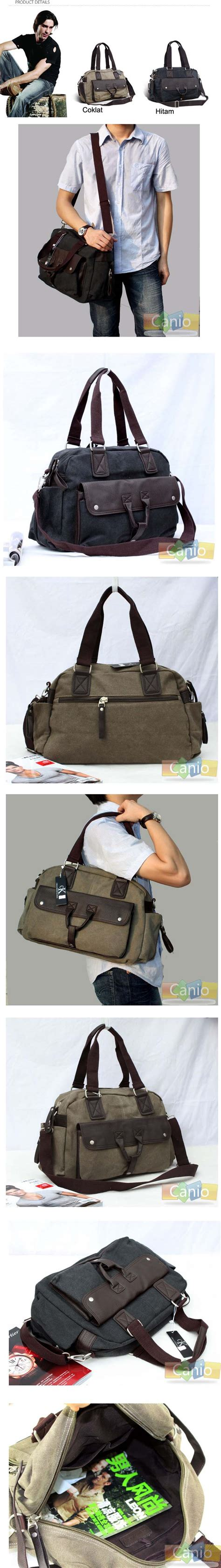 Travel Bag Kanvastas Tenteng Baju jual tas selempang dan tas tenteng