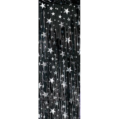 silver foil curtains premium foil entryway curtains black with silver stars