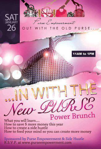 flyer  purse empowerment power brunch personality web