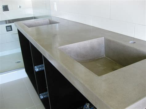 Bathroom Concrete Countertops by Concrete