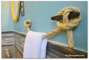 nautical towel holder diy nautical towel holder h20bungalow