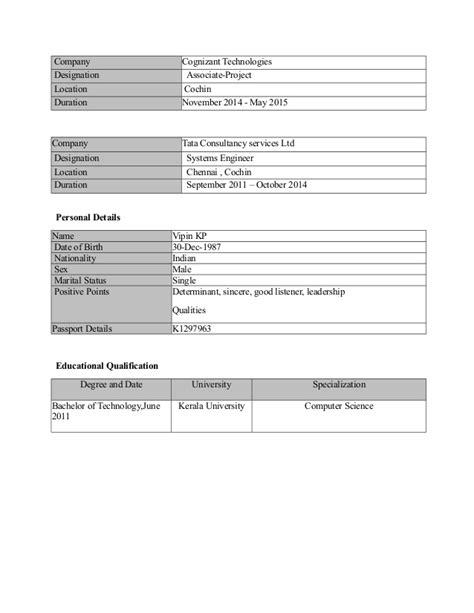 Accenture Resume Status Resume Vipinkp