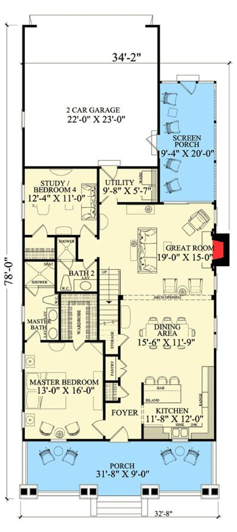 narrow lot house plans craftsman best 25 narrow lot house plans ideas on
