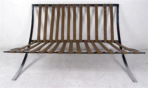 barcelona settee mid century barcelona style settee for sale at 1stdibs