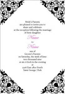 wedding invitation wording wedding reception invitation
