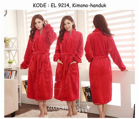 Jual Kimono 9214 170rb jual kimono handuk mandi merah bathrobe korean