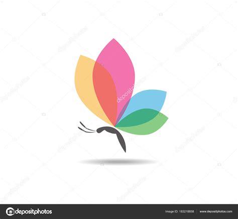 colorful butterfly logo beautiful graceful majestic colorful butterfly vector logo