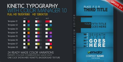 kinetic typography template 25 amazing after effects kinetic typography templates