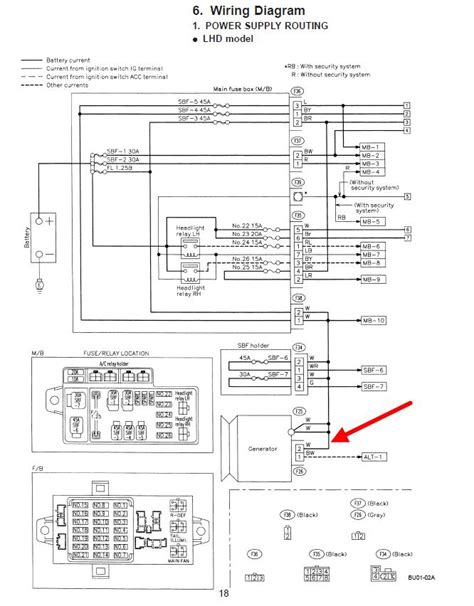 97 subaru legacy wiring diagram wiring diagram with