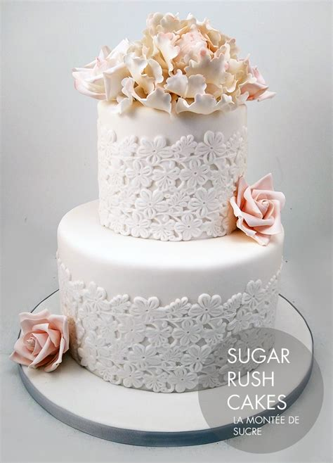 Wedding Cakes With by Lace Wedding Cake