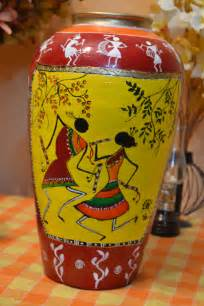 warli on a pot hobby paintings indian