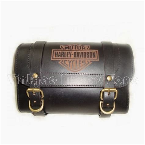 Harley Davidson Tool Bag by Handcrafted Genuine Leather Saddle Bags Vintage Motors Zone