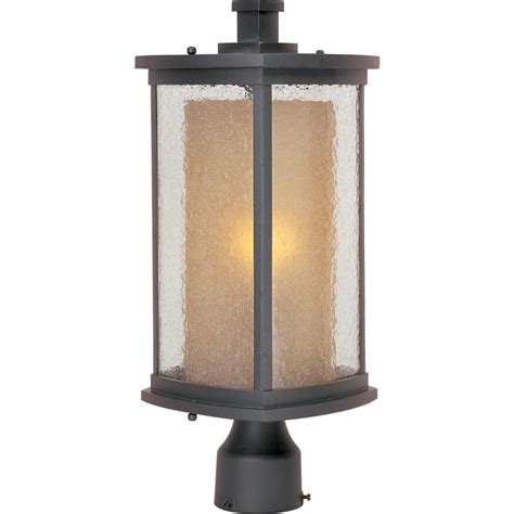 Outdoor Pole Lighting Maxim Lighting Bungalow 1 Light Bronze Outdoor Pole Post Light 3150cdwsbz The Home Depot