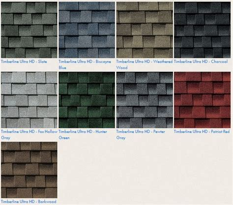 gaf timberline ultra hd roof shingle colors roofing