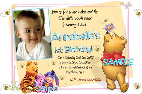 Winnie The Pooh Birthday Invitations Templates by 40th Birthday Ideas Winnie The Pooh Birthday Invitation
