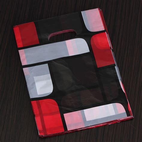 Shopping Bag 20cmx30cm 100pcs 100pcs Mixed Pattern Plastic Jewelry Gift Bag Shopping