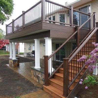 second floor deck plans 84 best elevated and raised deck ideas images on pinterest