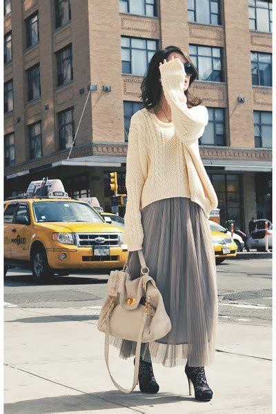 it knit sweater flowy maxi skirt dress