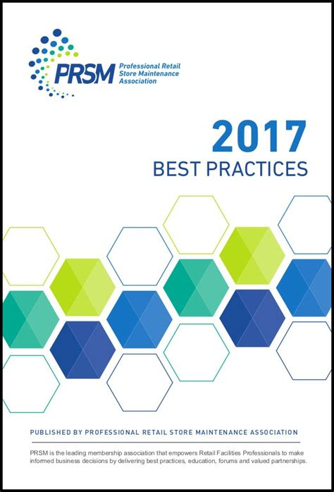 Prsm Association Releases 2017 Best Practices Book For